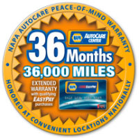 36 Months/36,000 miles NAPA AutoCare Peace-of-mind Warranty | Auto Safety Center